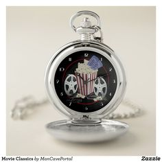 Movie Classics Pocket Watch Personalized Pocket Watch, Watch Diy, Make A Gift, Kids Gifts, Cool Watches, Customized Gifts, Special Gifts, Anniversary Gifts, Birthday Diy