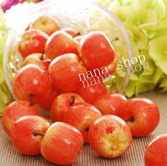 1 set of 30 mini red apples faux  fruit fake food  faux  decor Sketching tool #Handmade