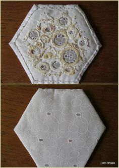 brodibidouillages et compagnie: Blanc Bee Quilt et vieilles dentelles 59, 60, 61 & 62