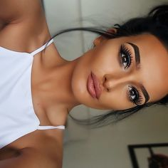 "LASHES!! @hollyboon__ wearing @LillyLashes in human hair style ""LA""  #GhalichiGlam #LillyLashes"