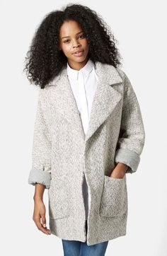Topshop Oversized Long Jacket