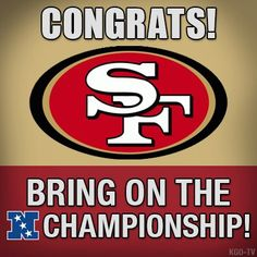 Great job 49ers! Now let's win the Superbowl!!!! :D