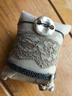 Blauw/zilver/robuuste knoop