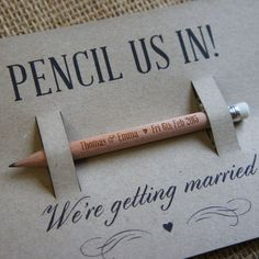 Pencil Us In - Save the Date Personalised Pencils