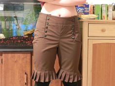 steampunk pants (but full length without the ruffles)