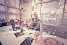 Stock Photo : Portrait of a woman in an office