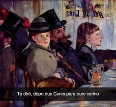 "Edouard Manet .""Al caffè """