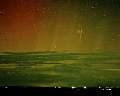 Red Sprite Lightning with Aurora Image Credit & Copyright: Walter Lyons (FMA Research), WeatherVideoHD.TV  #aurora #sky #redsprite