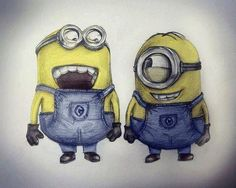 drawing of minions