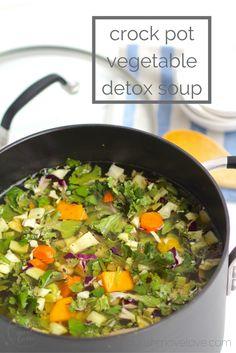 slow cooker detox vegetable soup | www.nourishmovelove.com