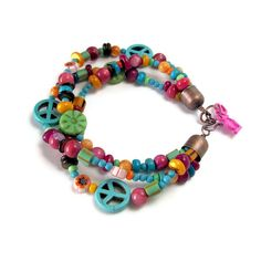 peace earrings beads   ... peace sign jewelry multi strand beadwork bracelet hippie jewelry peace