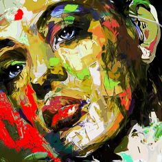 OVAB Portrait 224 Mixed media digital / acrylic on canvas 2016 copyright my page facebook.com/...