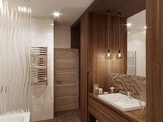 Дизайн ванной комнаты Bathroom Lighting, Sweet Home, Bathtub, Mirror, Furniture, Home Decor, Bathroom Light Fittings, Standing Bath, Bathroom Vanity Lighting