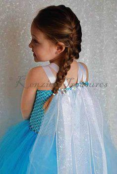Elsa From Frozen Tutu Dress With Flowing by KenziesTreasures