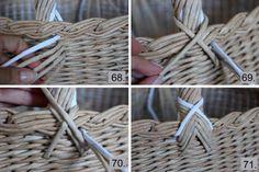 Как сделать большую плетёную корзину из газетных трубочек – мастер-класс. Авторские работы плетёные из бумажной лозы заказать, купить, Калининград