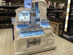 Amundsen vodka display Drink Display, Pos Display, Display Design, Exhibition Stand Design, Exhibition Display, Display Advertising, Marketing And Advertising, Standing Signage, Promotion Display