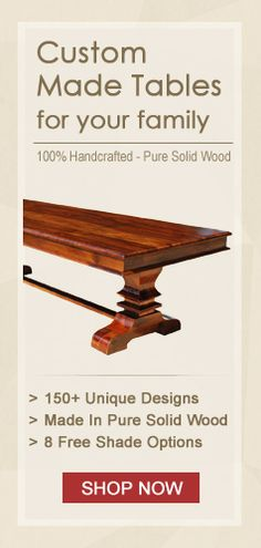 Rustic Reclaimed Wood Handcrafted Dining Tables Custom Made To Suit Your Requirements.