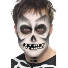Skeleton face paint chosen by the bijou girls