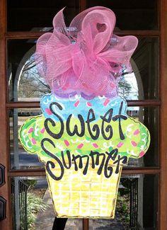 Sweet Summer Door Hanger  Bronwyn Hanahan by BronwynHanahanArt, $45.00