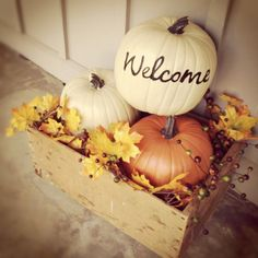 fall front porch decoration | Front porch entrance, fall decor | Home Decor Ideas