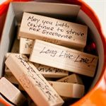 Real Weddings: Lots of guest book ideas