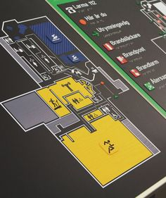 Tactile map. A great help for the costumers to navigate in every public enviornment.