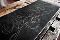 New York skateboard by Simon Ålander, via Behance Typography Images, Typography Inspiration, Design Inspiration, Calligraphy Letters, Typography Letters, Hand Lettering, Little Black Bird, Cute Words, Skate Decks