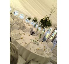 Marquee Weddings are very popular perfect for Wedding Receptions and Breakfasts. Different sizes are available on request** Standard Seated Guest Capacity for an evening is up to 170 and for a day up to 120 guests.