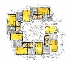 Port-Barcarès : Etude d'aménagement Candilis Georges – Art Drawing Tips Plan Concept Architecture, Module Architecture, Social Housing Architecture, Co Housing, Architecture Sketchbook, Architecture Student, Architecture Design, Computer Architecture, Cluster House