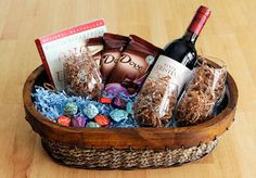 The best gifts include handmade touches, like stenciled wine glasses with Mom's initials on them. This Mother's Day, give mom a basket with her favorites, including Dove dark chocolate, wine a good book, and a handmade gift. #sharethedove