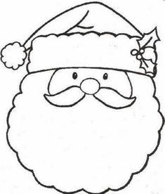 free printable santa face  santa face coloring page