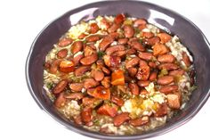 Red Beans and Rice by Michael Symon...this was so good, but it made a lot so next time I think I will cut it in half.