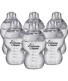 Buy Tommee Tippee Closer to Nature Feeding Bottles 6 x 250ml at Argos.co.uk - Your Online Shop for Baby bottles.