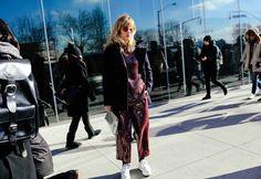 Annabel Rosendahl in a Tibi top and pants, and Loewe bag NYFW NEW YORK FASHION WEEK 2016 STREET STYE FASHION TRENDING