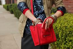 i have an obsession with red. and this celine bag.