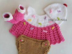 Baby   girl  crochet cupcake  set Newborn Crochet   Cover
