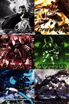 All BRS girls by Noir-Black-Shooter on DeviantArt Black Rock Shooter, Manga Anime, Anime Eyes, Anime Art, Tekken Cosplay, Anime Cosplay, Hatsune Miku, Video Game Anime, Beast