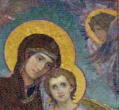 Click on the image to see the detail in a zoomable context.  Detail from Iconostase of the Saviour on the Blood, Viktor Vasnetsov
