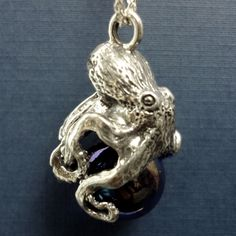 Sterling Silver or 14k Gold handmade Octopus Pawjama Pendant