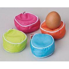 Jolly egg pillows to keep the eggs from rolling: Eierkissen, Eierbecher, 4er-Set