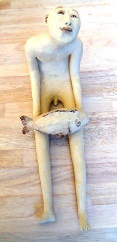man met vis: lut brackx