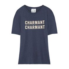 LACMA Store - Clare V. Blue Tee 'Charmant Charmant' with Cream text