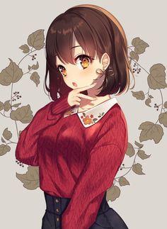 "anime girl, original art by ""moyui (myi Beautiful Anime Girl, Anime Girl Cute, I Love Anime, Anime Art Girl, Anime Girls, Art Plastic, Lolis Anime, Estilo Anime, Image Manga"