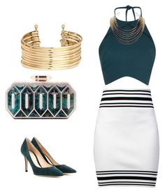 Sea by prasad-meenu on Polyvore featuring polyvore, fashion, style, Rebson, Balmain, Gianvito Rossi, Lolita Lorenzo, H&M and ABS by Allen Schwartz