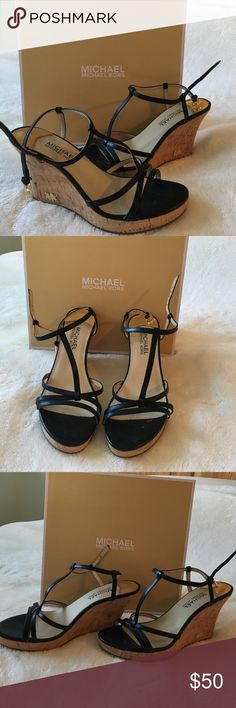 Michael Kors Heels Super cute and in great condition! I bought them for a wedding and I haven't worn them since! The box is included! KORS Michael Kors Shoes Heels