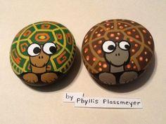 Turtle Painted Rocks | Turtle painted rocks by Phyllis Plassmeyer