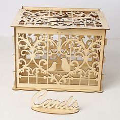 Category:Ornaments; Season:All Seasons; Packing:PVC Bag; Quantity:1 set; Theme:Creative; Occasion:Wedding; Material:Wood; Listing Date:04/22/2019; Production mode:Self-produce Wedding Gift Card Box, Wedding Post Box, Money Box Wedding, Diy Wedding Gifts, Gift Card Boxes, Wedding Cards, Personalized Wedding, Cheap Wedding Decorations, Table Decorations