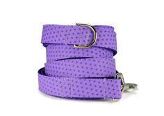 Purple Polka Dot Dog Leash