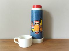 Vintage-owl-thermos-retro-denim
