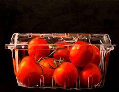 Lauren Pretorius - Carton of Tomatoes - Fine Art Oil Painting Print